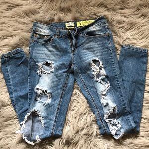 Indigo Rein Skinny Ripped Jeans